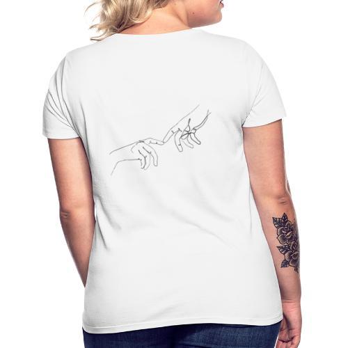 line art hands - Vrouwen T-shirt