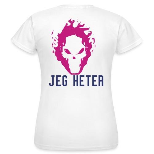 [kvinner]Jeg heter(Skriv navne ditt her) - T-skjorte for kvinner