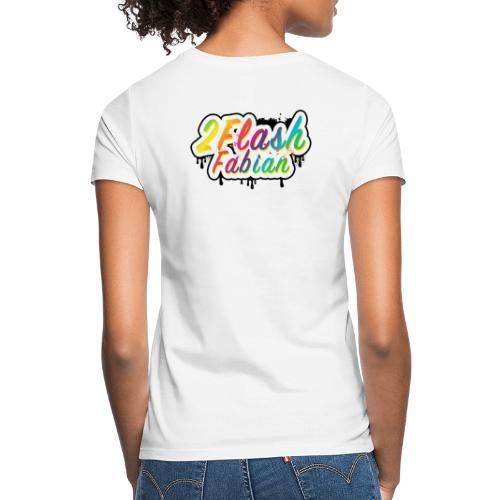 2Flash Fabian Backprint weiß - Frauen T-Shirt