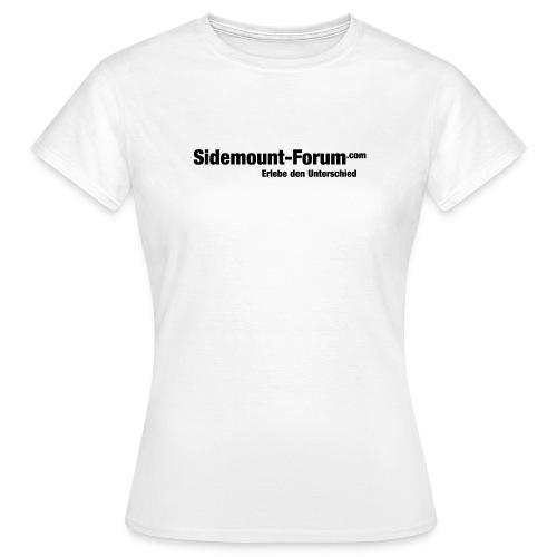 Sidemount Forum Schriftzug 1 Vektorgrafik - Frauen T-Shirt