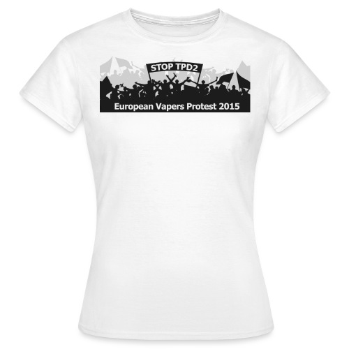 European Vapers Protest 2015 Banner - Frauen T-Shirt