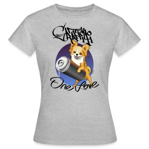 Chihuahua Graffiti one love - Frauen T-Shirt