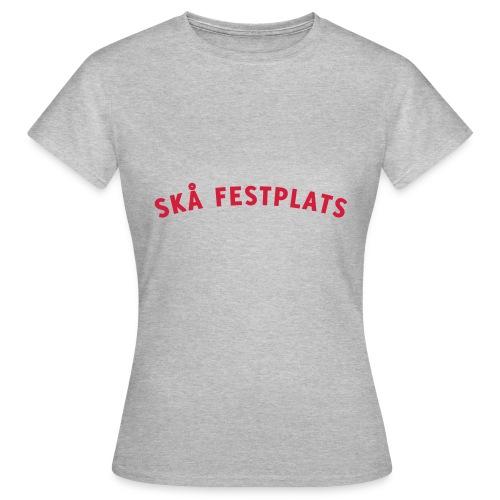 Skå Festplats Logotyp Röd - T-shirt dam