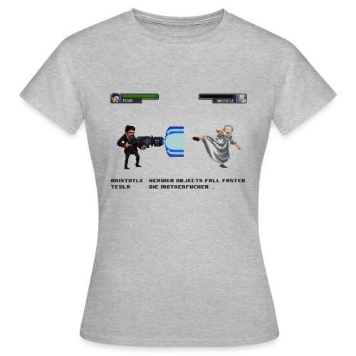Aristotle vs Tesla - T-shirt Femme