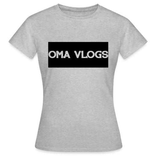 Oma Vlogs Black Logo - Women's T-Shirt