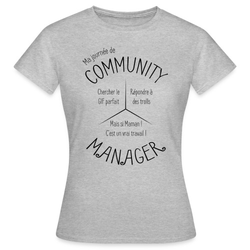 Le Design idéal pour le Community Manager - T-shirt Femme