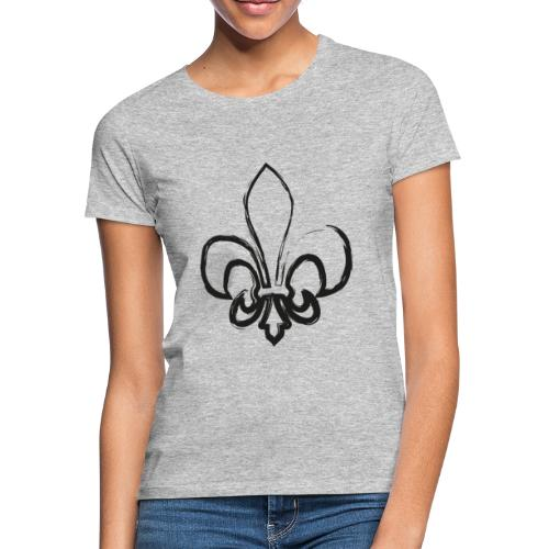 Pinselzeichnung Lilie – Schwarz - Frauen T-Shirt