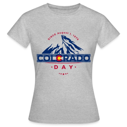 Colorado Day 2018 state flag mountain T shirt - T-shirt Femme