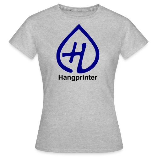 Hangprinter logo and text - T-shirt dam