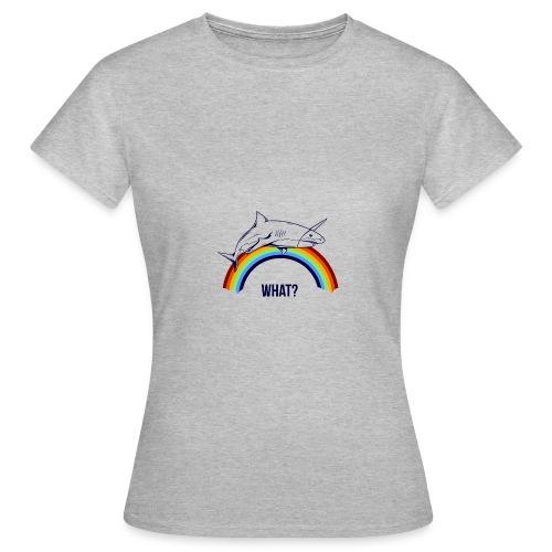 rainbow shark unicorn - T-shirt Femme