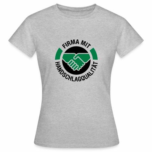 Handschlagqualität Logo schwarz - Frauen T-Shirt
