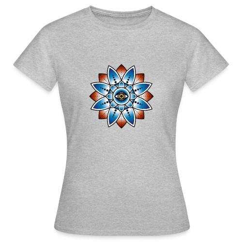 Psychedelisches Mandala mit Auge - Frauen T-Shirt