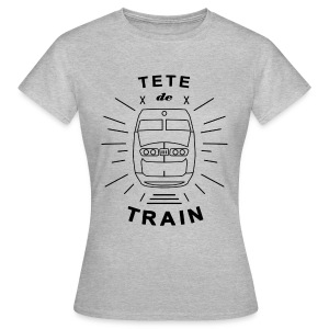 Tete_De_Train_Black_Aubstd - T-skjorte for kvinner