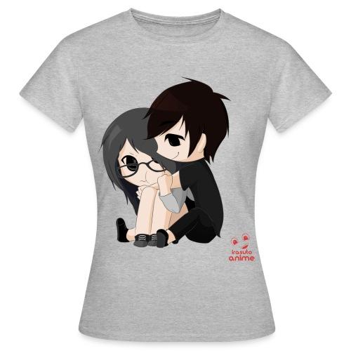 otaku anime pareja chibi kawaii - Camiseta mujer