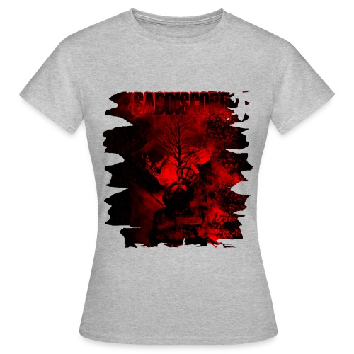 saddiscore cover front cut png - Frauen T-Shirt