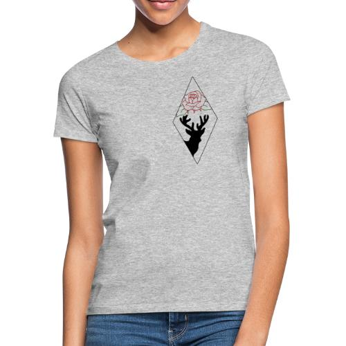 Deers N' Roses - T-shirt Femme