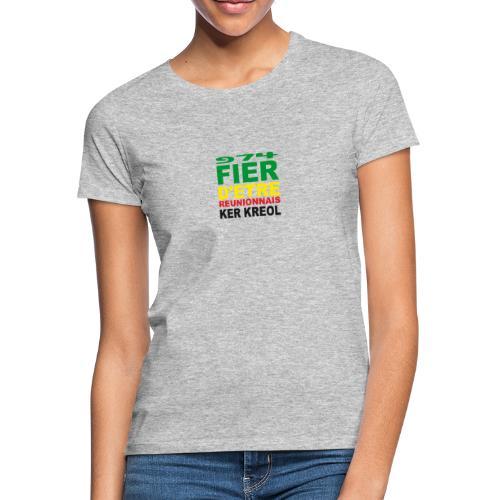 Logo fier d'etre kreol 974 ker kreol - Rastafari - T-shirt Femme