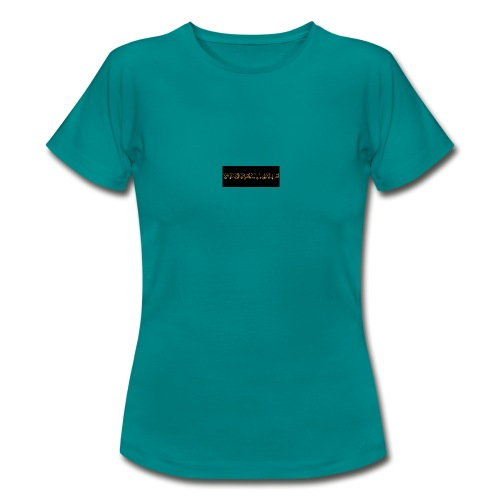 orange writing on black - Women's T-Shirt
