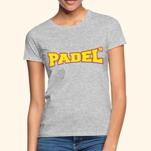 padel amarillo y morado - Camiseta mujer