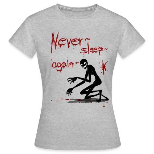 never sleep again weiß png - Frauen T-Shirt