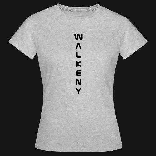 Walkeny Schriftzug vertikal in schwarz - Frauen T-Shirt