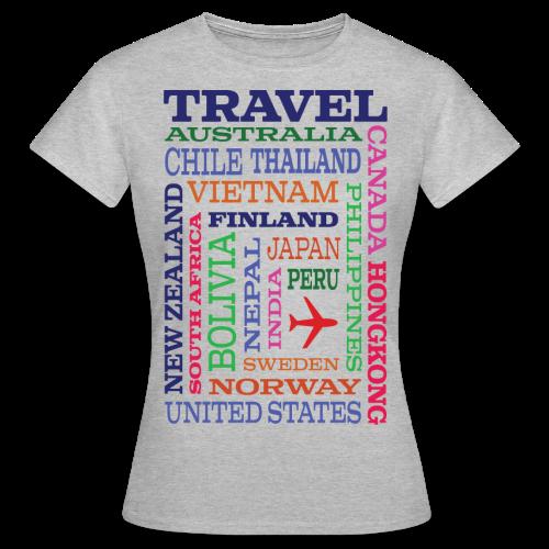 Travel Places design - Naisten t-paita