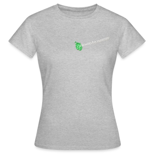 fruitybynature white on black - Dame-T-shirt