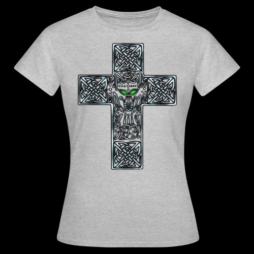 Wolf s Head Cross Silver - Women's T-Shirt