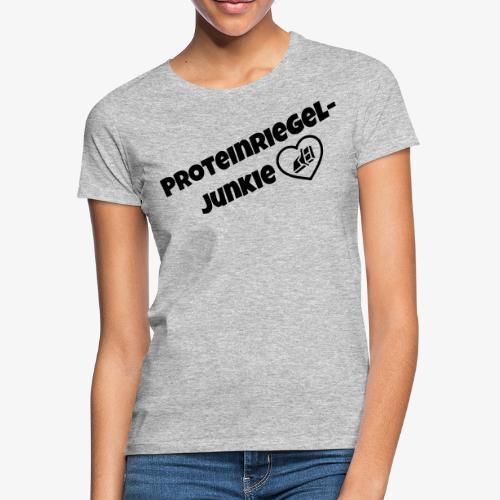 Proteinriegel Junkie Logo mit Riegelherz - Frauen T-Shirt