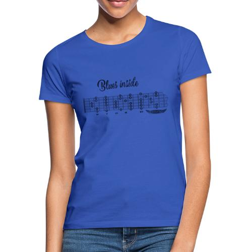 blues inside dark - Frauen T-Shirt