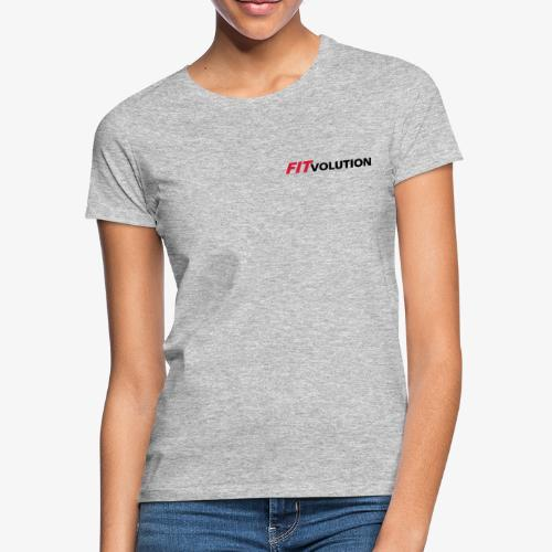 Kleines, schwarzes Fitvolution-Logo - Frauen T-Shirt