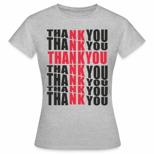 Motyw z napisem Thank You - Koszulka damska