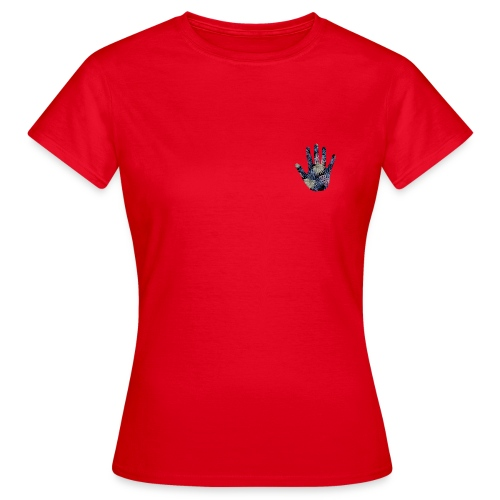 Exotic Flower Hand - Dame-T-shirt
