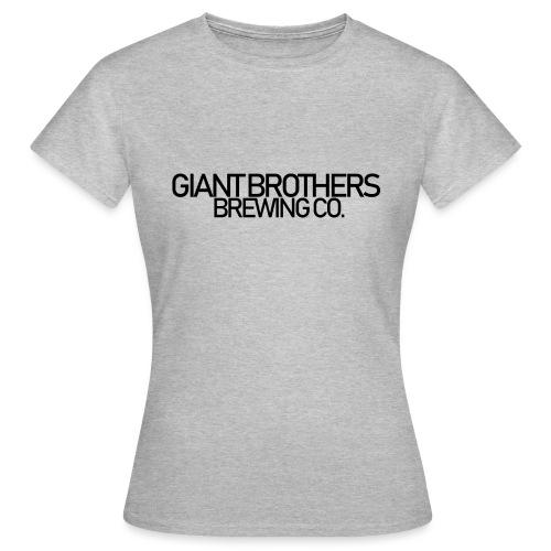 Giant Brothers Brewing co SVART - T-shirt dam