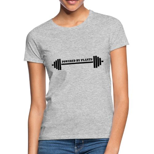 Powered by plants barbell - T-shirt dam