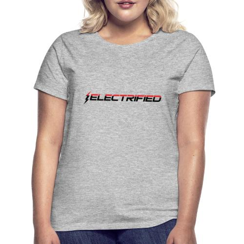 Electrified Logo schwarz/rot - Frauen T-Shirt