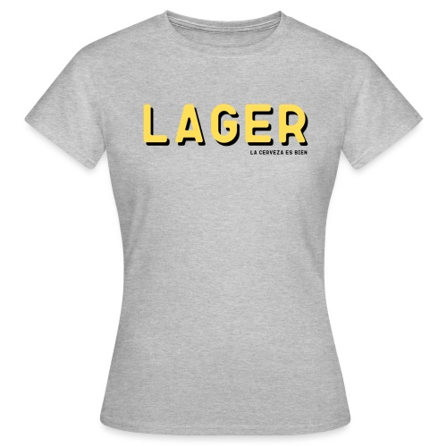 LAGER CON SOMBRA - Camiseta mujer