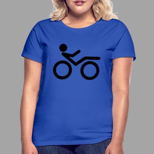 Recumbent bike black 2 - Naisten t-paita