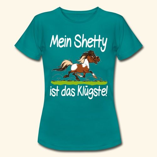 Mein Shetty das Klugste (Text weiss - T-shirt Femme