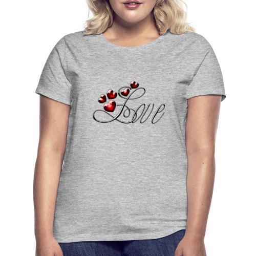 Love Herz - Frauen T-Shirt