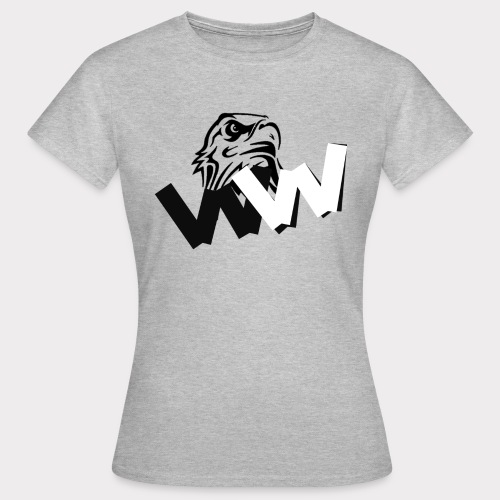 White and Black W with eagle - Women's T-Shirt