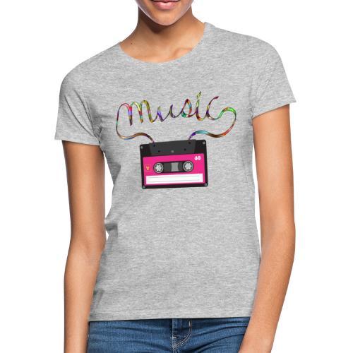cassette retro - Camiseta mujer