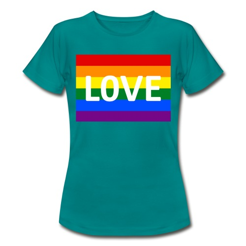 LOVE RETRO T-SHIRT - Dame-T-shirt