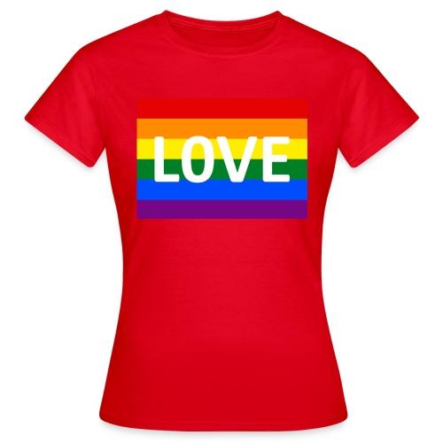 LOVE RETRO T-SHIRT - Dame-T-shirt