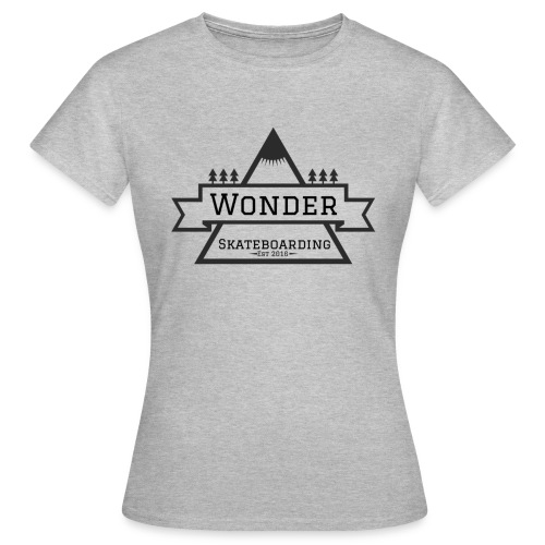 Wonder hoodie no hat - Mountain logo - Dame-T-shirt