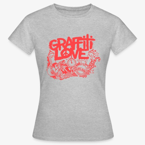 cosmos1 red graffiti love - Frauen T-Shirt