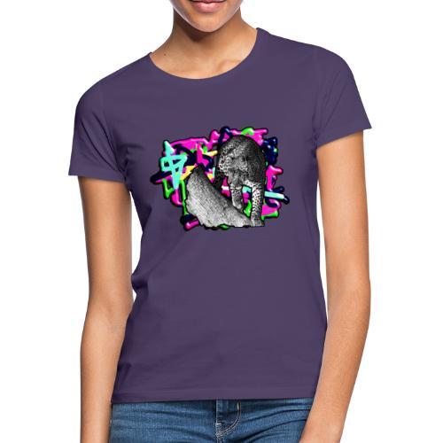 Leopard auf Bunt - Frauen T-Shirt