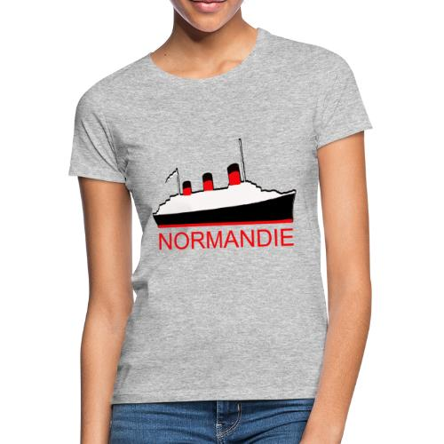 PAQUEBOT TRANSATLANTIQUE LE NORMANDIE - T-shirt Femme