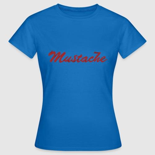 Red Mustache Lettering - Women's T-Shirt