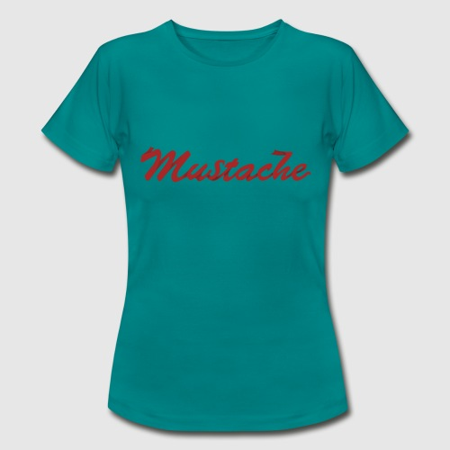 Red Mustache Lettering - Women's T-Shirt